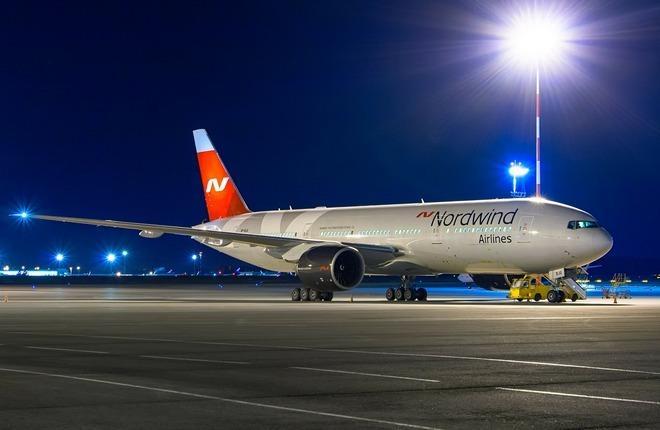 Самолет Boeing 777 авиакомпании Nordwind