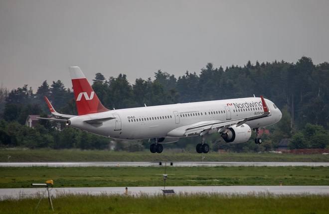 первый самолет Airbus A321neo авиакомпании Nordwind (Северный ветер)