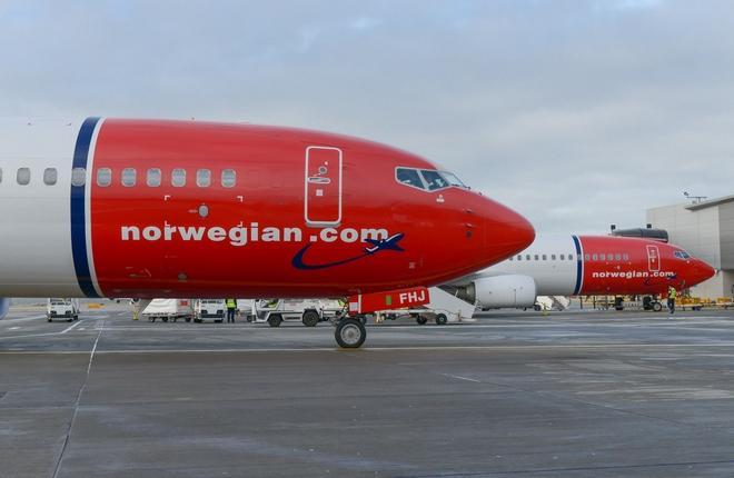 самолеты авиакомпании Norwegian