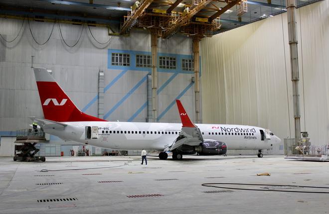 Самолет Boeing 737-800 авиакомпании Nordwind