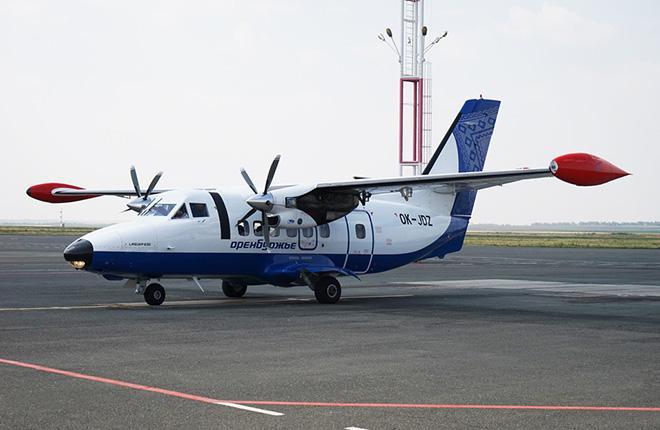"""Самолет L-410 авиакомпании """"Оренбуржье"""""""