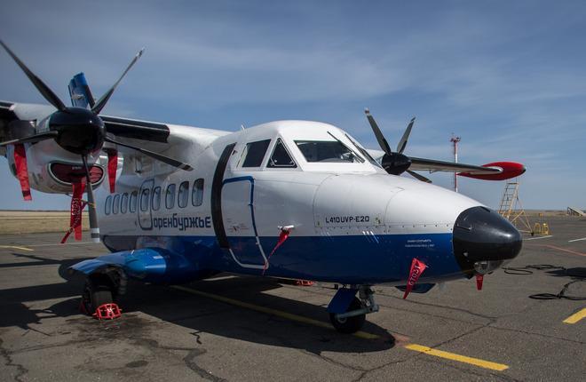 """Самолет L-410UVP-E20 авиакомпании """"Оренбуржье"""""""