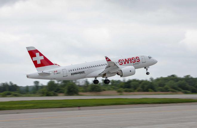 Самолет Bombardier CS100 сертифицирован в Европе и США