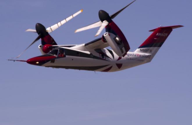 Прототип гражданского конвертопалана AW609 потерпел крушение во время тестового полета