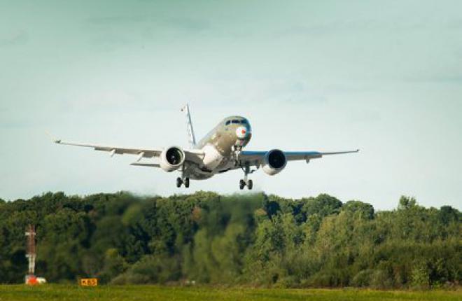 Bombardier возобновила летные испытания самолетов CS100