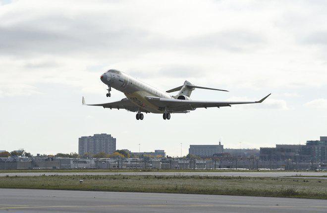 Начались летные испытания бизнес-джета Bombardier Global 7000