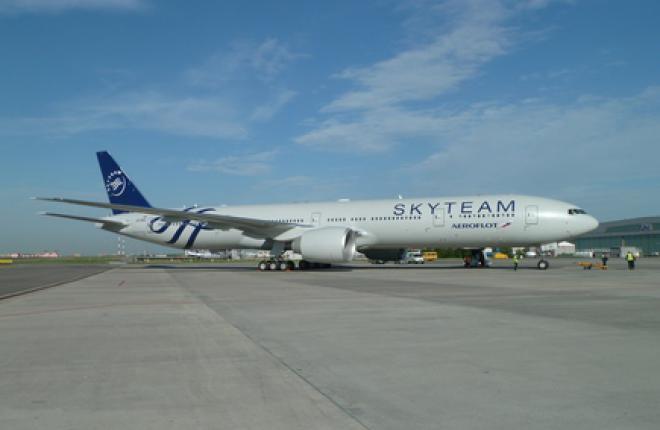 """Авиакомпания """"Аэрофлот"""" получила Boeing 777 в ливрее SkyTeam"""