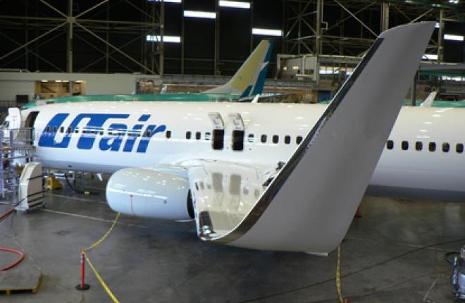 """Предназначенный для """"ЮТэйр"""" самолет Boeing 737-800 на заводе в Рентоне"""