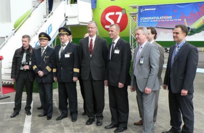 Церемония передачи нового самолета Boeing 737-800 авиакомпании S7 Airlines