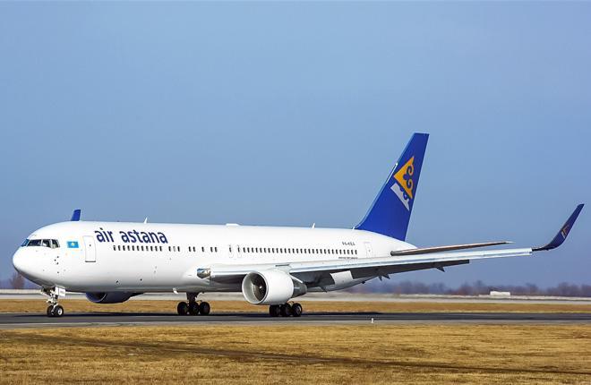 Самолет Boeing 767-300 авиакомпании Air Astana