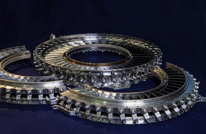 Детали статора компрессора высокого давления ПД-8