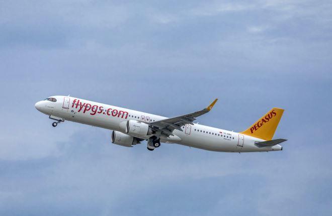 Новый A321neo авиакомпании Pegasus Airlines