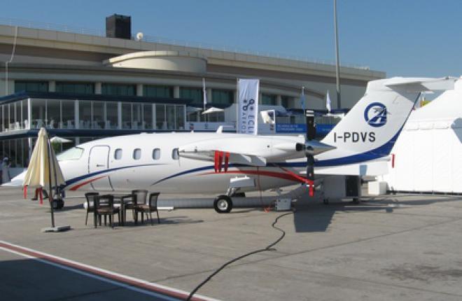 """Авиакомпания """"Летные проверки и системы"""" получила первый самолет P.180 Avanti II"""