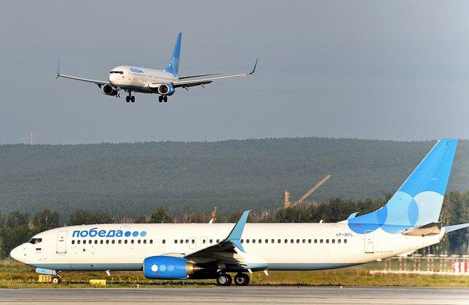 самолеты авиакомпании Победа
