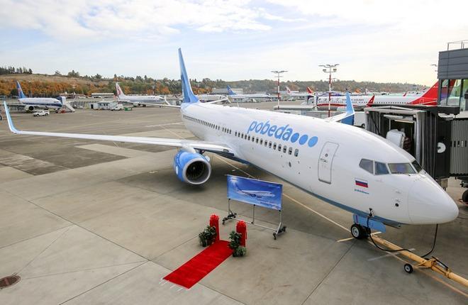 """Парк авиакомпании """"Победа"""" увеличился до 13 самолетов Boeing 737-800"""