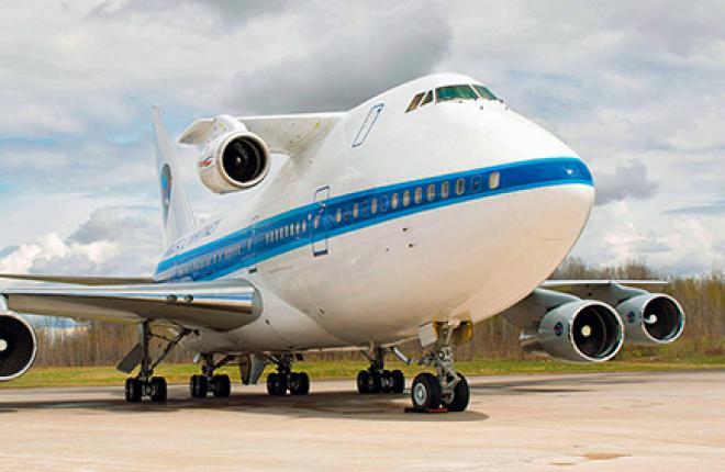 Испытания двигателя Pratt & Whitney на специальной летающей лаборатории