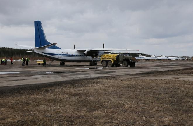 """Самолет Ан-24РВ авиакомпании """"Псковавиа"""""""
