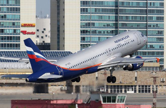 Вылет самолета из аэропорта Пулково