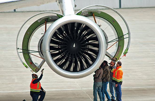 Двигатель  Pratt & Whitney PW1100G налетал уже 35 ч на летающей лаборатории