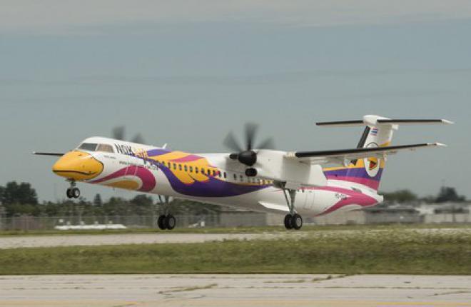 Bomardier поставила первый самолет Q400 NextGen повышенной вместимости