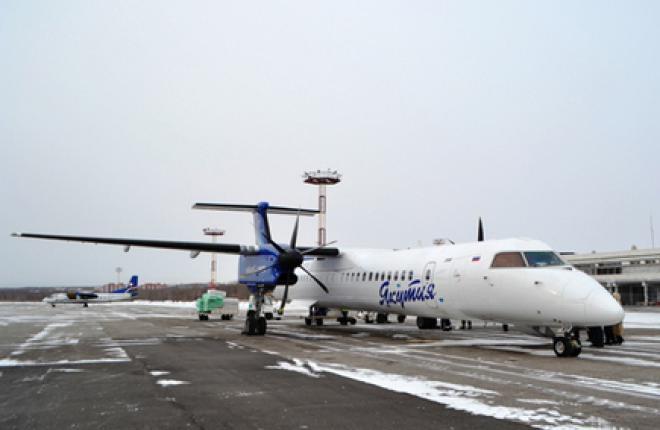 """Авиакомпания """"Алроса"""" взяла в лизинг самолет Q400 у """"Якутии"""""""