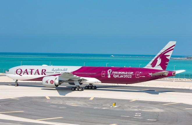 Авиакомпания Qatar Airways представила Boeing 777-300ER в ливрее чемпионата мира по футболу ФИФА 2022 года в Катаре