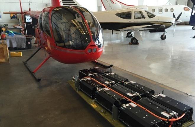 Прототип вертолета R44 с электродвигателями, созданный компанией Tier 1 Engineering