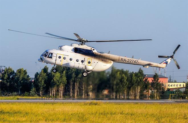 "Вертолет Ми-8АМТ авиакомпании ""СКОЛ"""