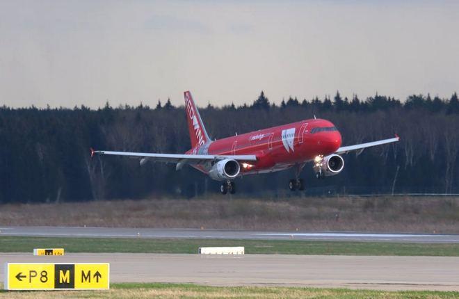 авиакомпания Red Wings  прибыл самолет Airbus A321, бортовой номер VP-BVW (заводской серийный номер MSN 1950)