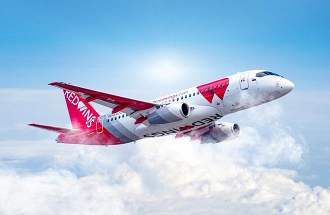 самолет Superjet авиакомпании Red Wings