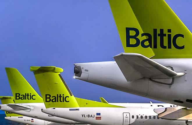 Самолеты латвийской авиакомпании airBaltic