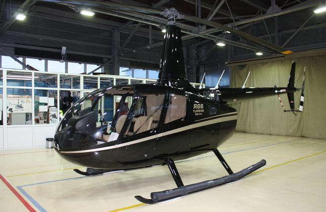 Вертолет Robinson R66 с баллонетами