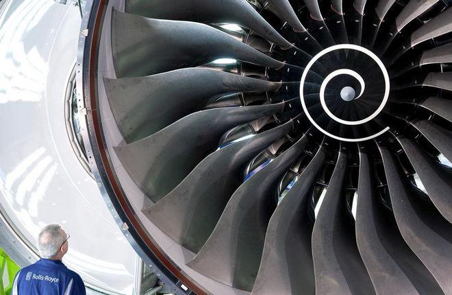 Вентилятор двигателя Rolls-Royce Trent XWB