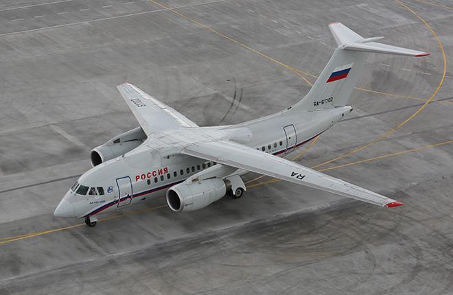 """Самолет Ан-148 авиакомпании """"Россия"""""""