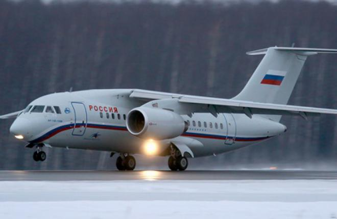 """Авиакомпания """"Россия"""" полетела в Вену на самолете Ан-148"""