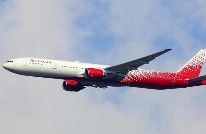"""Самолет Boeing 777-300ER авиакомпании """"Россия"""""""