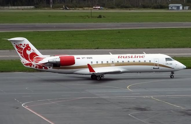 "Самолет Bombardier CRJ200 авиакомпании ""РусЛайн"""