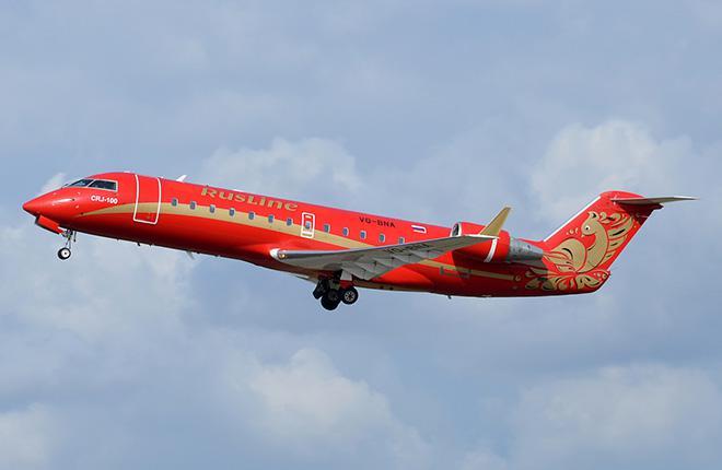 """""""РусЛайн"""" взяла в лизинг пять самолетов Bombardier CRJ200"""