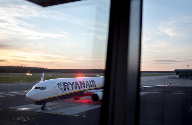 Самолет Boeing 737 авиакомпании Ryanair