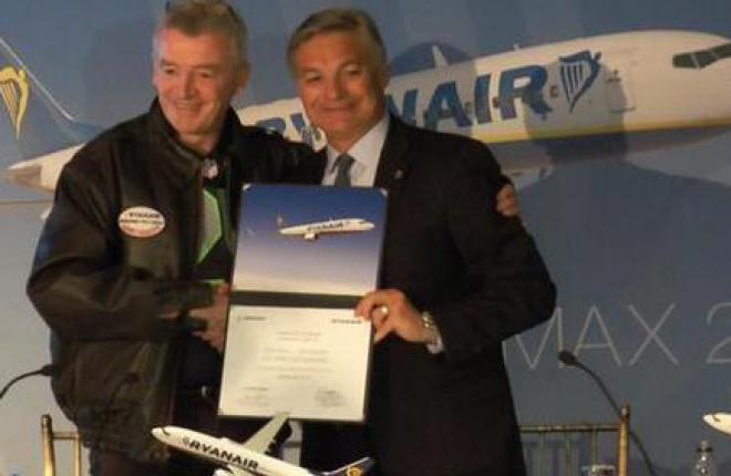 Авиакомпания Ryanair купила специальные самолеты Boeing 737MAX 200