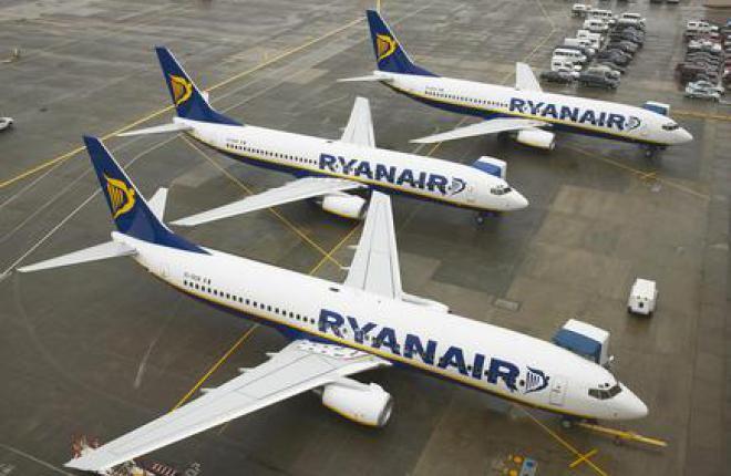 Чистая прибыль Ryanair выросла более чем в полтора раза