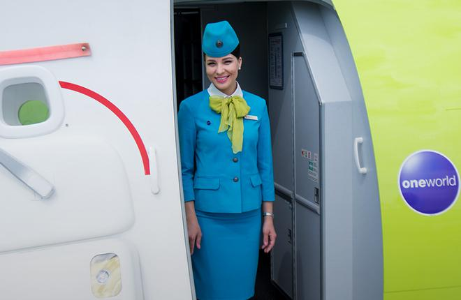 Бортпроводница авиакомпании S7 Airlines