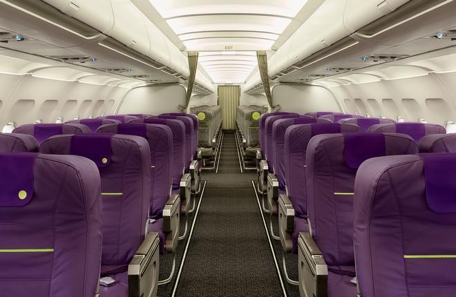 салон самолета A319 Extra Edition авиакомпании S7 Airlines