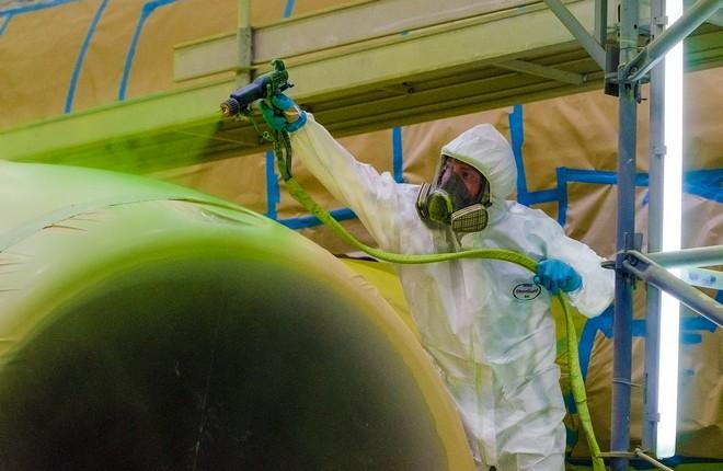 центр покраски S7 Technics в аэропорту Минеральные Воды