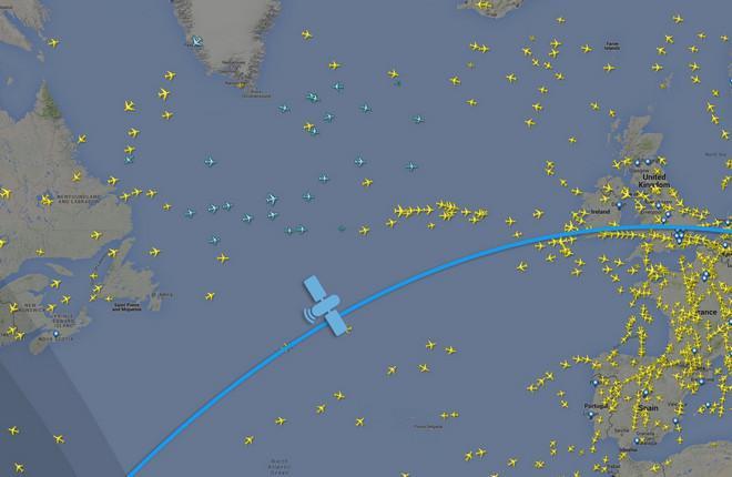 Flightradar24 испытал спутниковую систему наблюдения за самолетами