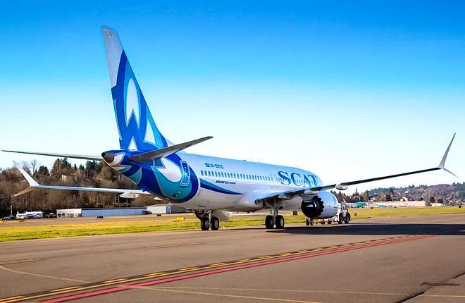 Самолет Boeing 737MAX авиакомпании SCAT