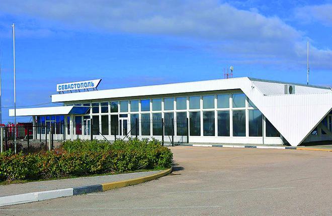 Пассажирский терминал на аэродроме Бельбек, весна 2016 года