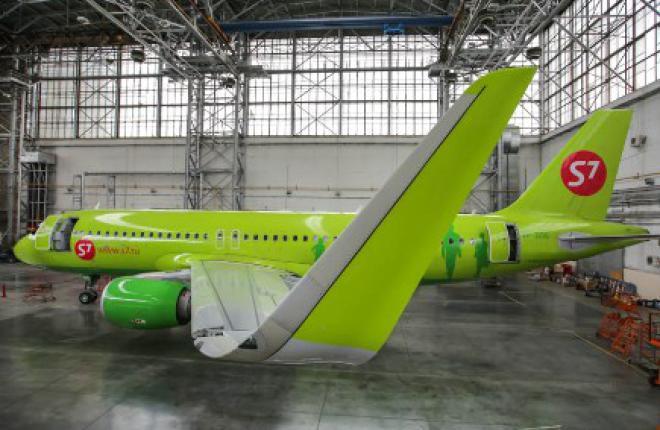 Авиакомпания S7 Airlines оснастила самолеты Airbus A320 шарклетами