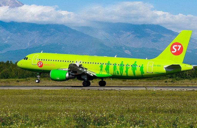 Самолет Airbus A320 авиакомпании S7 Airlines