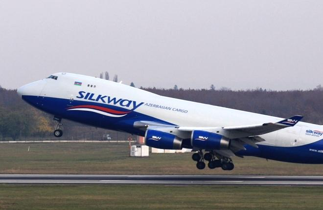 Самолет Boeing 747-400F авиакомпании Silk Way West Ailrines